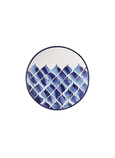 Bella Maison Blue Tile Seramik Tatlı Tabağı 6'lı (16 cm) Mavi